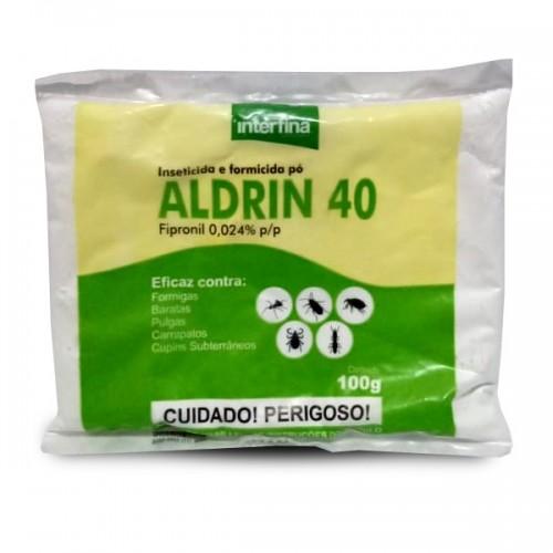 FIPRONIL ALDRIN 40 PÓ 100G