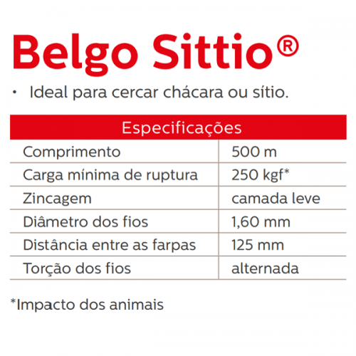 Arame Farpado Belgo Sittio - 500 Metros