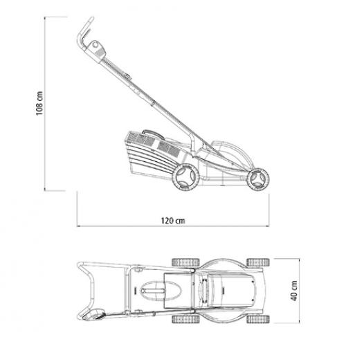 Cortador de Grama Elétrico Tramontina CE35P com Diâmetro de Corte de 350 mm Coletor Rígido e Chassi de Plástico 1300 W 127 V