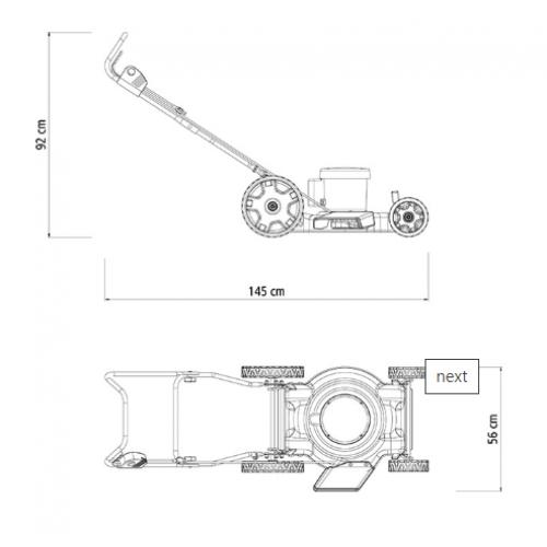 Cortador de Grama Elétrico Tramontina CE45M com Diâmetro de Corte de 450 mm e Chassi Metálico 2500 W 127 V
