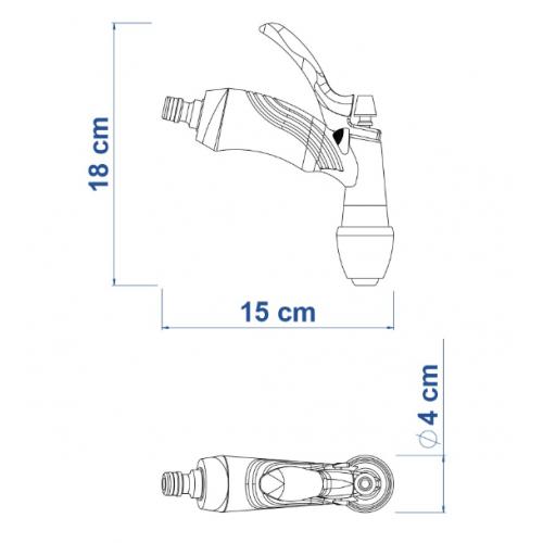 Hidropistola para Engate Rápido Tramontina com Jato Controlável