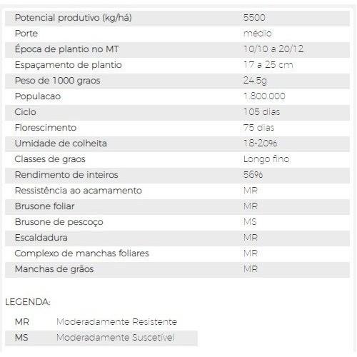 ARROZ - AN CAMBARÁ Preço por Kg