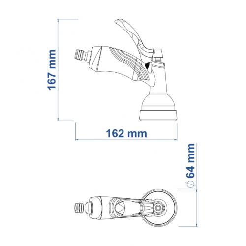 Hidropistola para Engate Rápido Tramontina Multifunção em Cartela