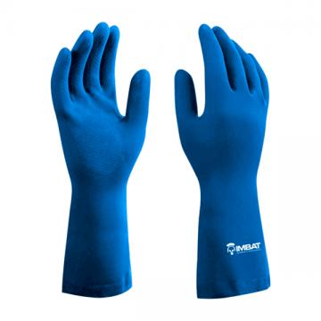 Luva Látex Antiderrapante Azul 9 G - IMBAT