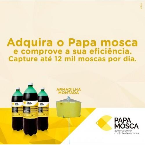 Kit Papa Mosca - 01 Armadilha + 4 Litros De Atrativo