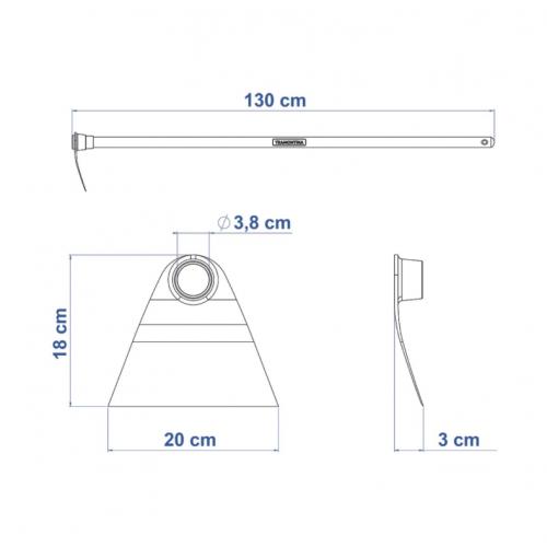 Enxada Sul 1.5 Tramontina em Aço com Cabo de Madeira 130 cm