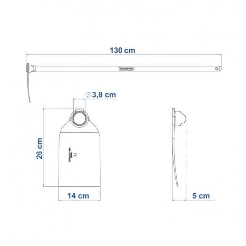 Enxadão Largo 2.5 Tramontina em Aço com Cabo 130 cm