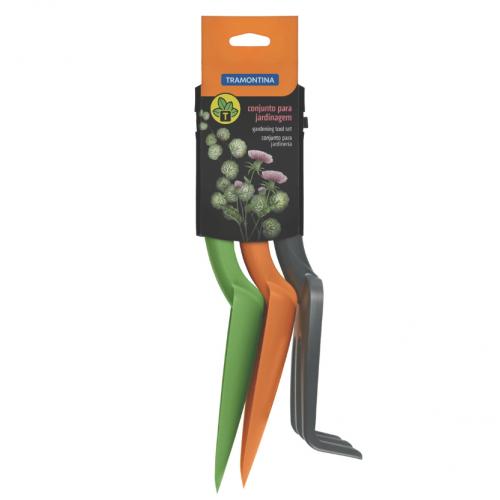 Conjunto para Jardinagem Tramontina em Plástico Colorido 3 Peças