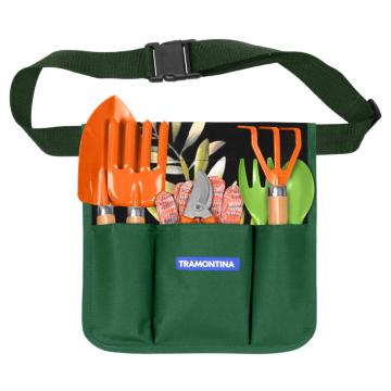 Conjunto para Jardinagem Tramontina Cinto com 8 Peças